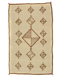 "Lot 317 - Navajo Crystal Rug with Diamond Designs c. 1900-10s, 87"" x 55.5"" (T3056)"