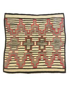 "Navajo Chief's Blanket Variant, circa 1890s, 48"" x 48"""