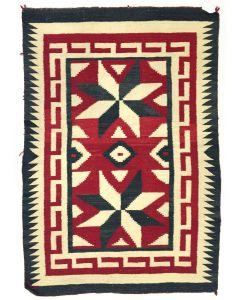 "Navajo Ganado Rug with Valero Stars c. 1930s, 62"" x 42"" (T3778)"