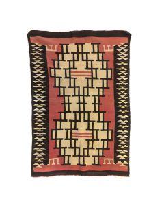 """Navajo Crystal Rug c. 1920-30s, 48"""" x 33.25"""""""