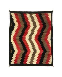 """Navajo Ganado Rug c. 1920s, 58.75"""" x 45.25"""" (T3969)"""