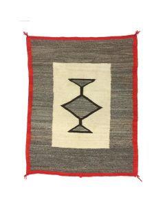 "Navajo Crystal Transitional Blanket, circa 1890s, 48.5"" x 37.5"""