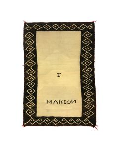 "Navajo ""Marion"" Double Saddle Blanket c. 1900-10s, 49.5"" x 34.5"" (T4661)"