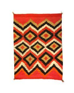 """Navajo Transitional Blanket c. 1890s, 62"""" x 51"""""""