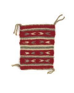 "Navajo Miniature Ganado Rug c. 1980s, 5"" x 3.75"""