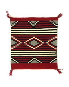 "Navajo Chief's Style Blanket c. 1980s, 29.5"" x 26"""