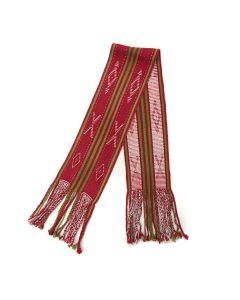 """Navajo Sash c. 1960-80s, 47"""" x 7"""" and a 8.5"""" fringe (T4848)"""
