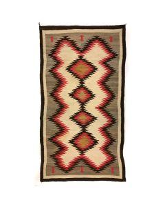 """Navajo Ganado Rug c. 1910s, 93"""" x 50.5"""""""