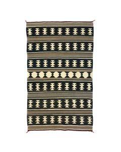 """Navajo Crystal Rug c. 1930s, 68.25"""" x 40.25"""""""
