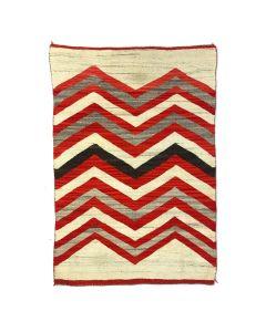 """Navajo Transitional Blanket c. 1890s, 62"""" x 43"""""""