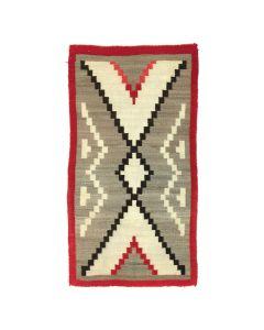 """Navajo Ganado Rug c. 1910s, 64.5"""" x 33.75"""""""