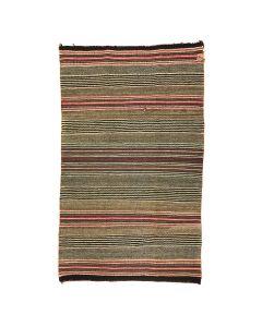 """Navajo Single Saddle Blanket c. 1920s, 43"""" x 25.5"""""""