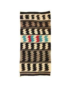 """Navajo Crystal Rug c. 1930s, 57.25"""" x 28"""""""