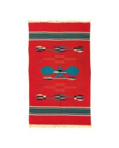 """Chimayo Blanket c. 1940s, 69.5"""" x 46"""""""