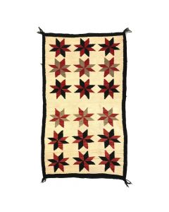 "Navajo Double Saddle Blanket c. 1910s, 61.5"" x 36"""
