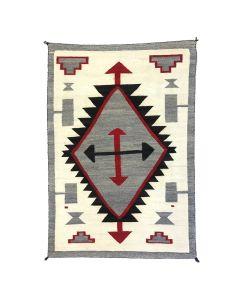 """Navajo Crystal Rug c. 1910s, 66"""" x 44"""""""