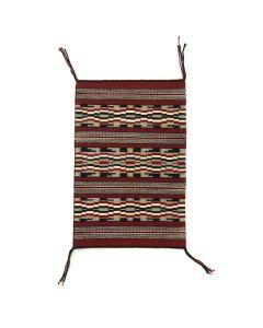 """Navajo Ganado Rug c. 1980s, 18.25"""" x 12.25"""""""