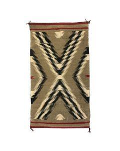 """Navajo Ganado Rug c. 1950s, 57"""" x 33"""""""
