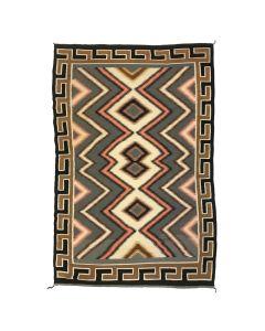 "Navajo Red Mesa Rug c. 1960s, 87"" x 57"""