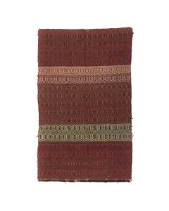 "Navajo Double Saddle Blanket c. 1900-20s, 52"" x 33"""