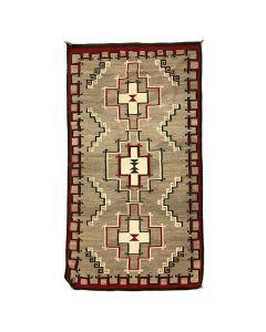 """Navajo Ganado Rug c. 1920s, 113"""" x 62"""""""