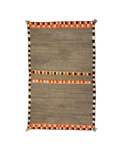 "ON HOLD Navajo Double Saddle Blanket c. 1920s, 51"" x 33.5"""