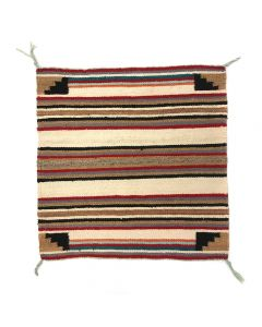"Navajo Single Saddle Blanket c. 1960s, 30.25"" x 29"" (T5250)"