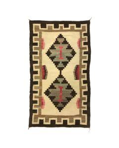 """Navajo Ganado Rug c. 1910-20s, 63.5"""" x 38.5"""" (T5251)"""