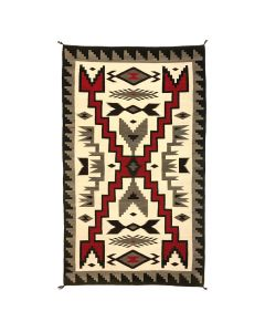 "Navajo Crystal Storm Pattern Rug c. 1940-50s, 102"" x 58"" (T5271)"