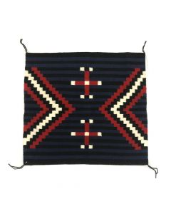 "Beverly Chee - Navajo Moki Sampler with Spider Woman Crosses c. 1990-2000s, 28"" x 30.5"" (T5283)"