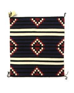 """Chester Begay - Navajo Moki 3rd Phase Chief's Blanket Sampler c. 1990-2000s, 29"""" x 25.5"""" (T5284)"""
