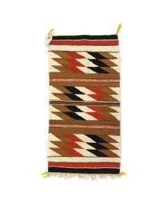"""Navajo Gallup Throw c. 1940-50s, 39"""" x 21"""""""