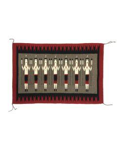 """Juanita Deschrie - Navajo Yei Pictorial Rug c. 1980s, 24.25"""" x 36"""" (T5320)"""