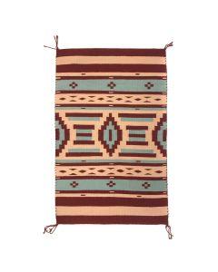 """Sandy Dixon - Navajo Serape Revival Blanket c. 1990s, 40.5"""" x 26.5"""" (T5321)"""