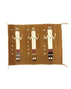 "Navajo Yei Rug c. 1950s, 23"" x 31.5"""