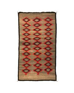 """Navajo Crystal Rug c. 1900s, 91"""" x 51.5"""" (T5342)"""
