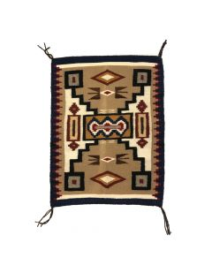 "Navajo Crystal Storm Pattern Rug c. 1960s, 34"" x 25"" (T5346)"