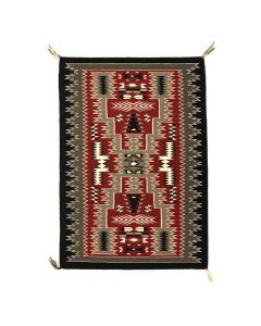"Navajo Crystal Storm Pattern Rug c. 1980s, 43"" x 31.25"" (T5349)"