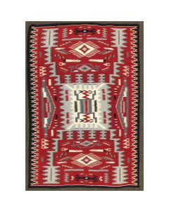 "Navajo Large Crystal Storm Pattern Rug c. 1980s, 115"" x 77"" (T5352)"