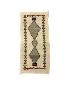 """Navajo Crystal Runner c. 1900s, 83.5"""" x 38"""" (T5359)"""