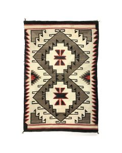 "Navajo Crystal Rug with Diamond Designs c. 1920s, 91"" x 64"" (T5360)"