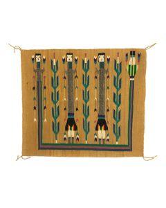 "Navajo Yei Pictorial Rug c. 1960s, 25.5"" x 29.5"" (T5378)"