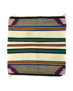 "Navajo Saddle Blanket c. 1950-60s, 31.5"" x 30.5"" (T5386)"