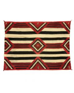 "Navajo 3rd Phase Chief's Blanket c. 1900s, 59"" x 74"""