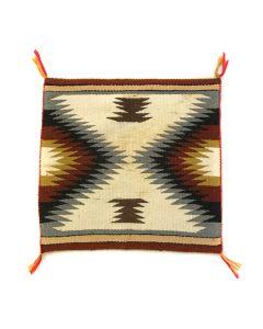 "Navajo Eyedazzler Sampler c. 1960s, 18.5"" x 19.25"" (T5403)"