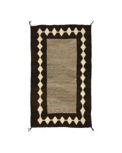 "Navajo Double Saddle Blanket c. 1900-10s, 58.5"" x 35.5"" (T5413)"
