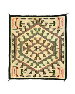 "Navajo Teec Nos Pos Rug c.1930-40s, 55.5"" x 51"" (T5414)"