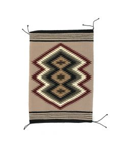 "Isabelle Bahe - Navajo Chinle Rug c. 1960s, 28.25"" x 20""(T5428)"