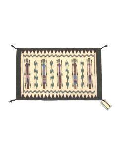 "Gloria Hardy - Navajo Yei Pictorial Rug c. 1990s, 29"" x 45"" (T5430)"