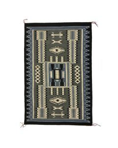 "Lilian Jones - Navajo Contemporary Crystal Storm Pattern Rug, 60"" x 42"" (T5433)"